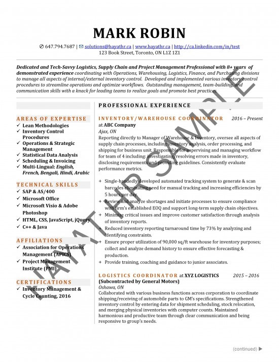 Accountant- Cover Letter Sample | Hayat Inc.